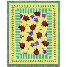 Ladybug Garden Tapestry Throw Blanket | Pure Country | PC2005T