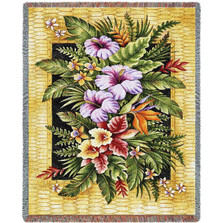 Tropical Flowers Throw Blanket | Pure Country | PC2107T
