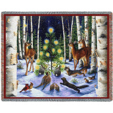 A Simple Tree Holiday Tapestry Throw Blanket | Pure Country | pc2402T