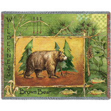 Brown Bear Tapestry Throw Blanket | Pure Country | pc2456T