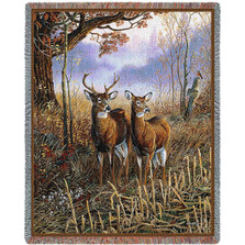 Country Treasures Deer Tapestry Afghan Throw | Pure Country | pc3750T