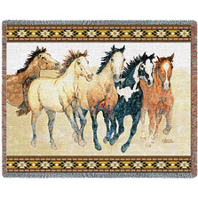 Steppin' Out Wild Horse Woven Throw Blanket | Pure Country | pc3885T