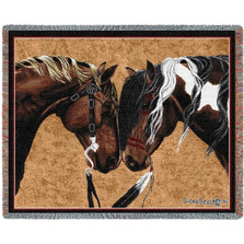 Warriors Truce Horse II Woven Throw Blanket | Pure Country | pc3887T