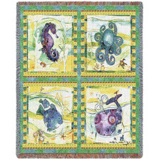 Undersea Throw Blanket   Pure Country   PC4469T