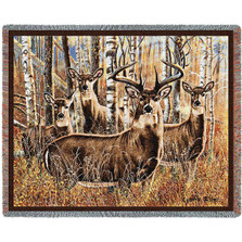 Deer Throw Blanket Sudden Encounter | Pure Country | pc4719T