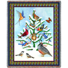Winter Bird Haven Tapestry Throw Blanket Pure Country | Pure Country | pc5522T