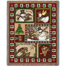Christmas Bear Tapestry Throw Blanket | Pure Country | pc6082T