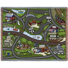 Farmhouse Road Play Throw Blanket | Pure Country | PC6266T