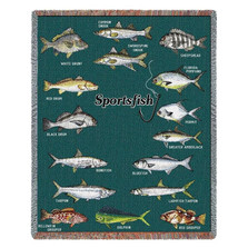 Sports Fish of Florida Throw Blanket | Pure Country | PC688-T