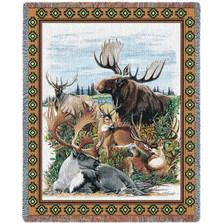 Moose Tapestry Thow Blanket Antlered Animals | Pure Country | PC768-T