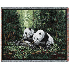 Pandas Tapestry Afghan Throw Blanket | Pure Country | pc813T