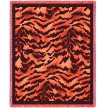 Tiger Print Throw Blanket | Pure Country | pc851T