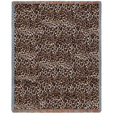Cheetah Print Woven Throw Blanket | Pure Country | pc948T
