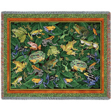 Leap Frog Tapestry Throw Blanket | Pure Country | pcfrog1214t