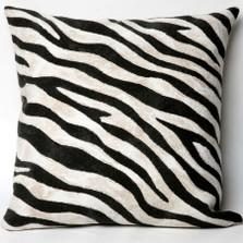Zebra Print Indoor Outdoor Throw Pillow   Trans Ocean   TOG3043-48p