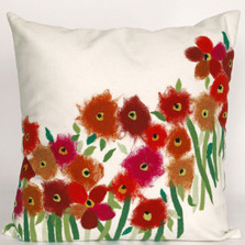 Red Poppies Indoor Outdoor Throw Pillow | Trans Ocean | TOG3209-24