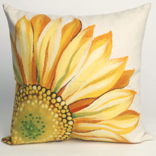 Sunflower Indoor Outdoor Throw Pillow | Trans Ocean | TOG3216-09
