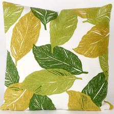 Mystic Leaf Indoor Outdoor Throw Pillow   Trans Ocean   TOG4051-06