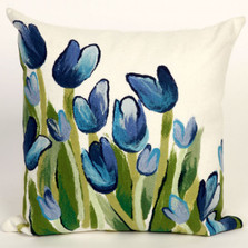Blue Tulip Indoor Outdoor Throw Pillow | Trans Ocean | TOG4134-03