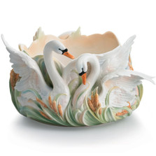 Southern Splendor Swan Soup Bowl | fz01559 | Franz Porcelain Collection