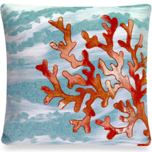 Coral Wave Indoor Outdoor Throw Pillow | Trans Ocean | TOG4158-04