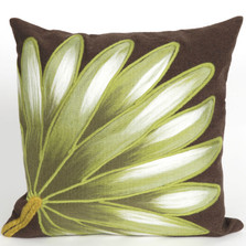 Palm Fan Indoor Outdoor Throw Pillow | Trans Ocean | TOG4168-19