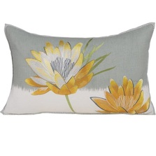 "Flower Embroidered Pillow ""Nefertiti"" 