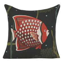 "Fish French Tapestry Pillow ""Juan"" 