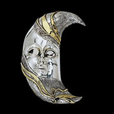 Moon LTD ED Mask Wall Art Sculpture | 2101 | D'Argenta