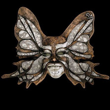 Butterfly LTD ED Mask Wall Art Sculpture | 2102 | D'Argenta