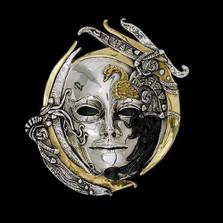 Swan LTD ED Mask Wall Art Sculpture | 2103 | D'Argenta