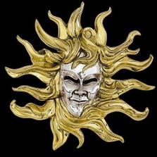 Sun LTD ED Mask Wall Art Sculpture | 2106 | D'Argenta