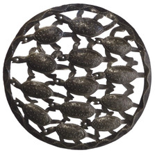 Bale of Turtles Recycled Steel Drum Wall Art | Le Primitif | LP3054