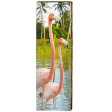 Flamingo Wood Panel Wall Art | Mill Wood | MWfla4m