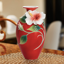 Island Beauty Hibiscus Small Vase | FZ01693 | Franz Porcelain Collection