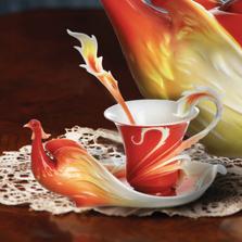 Phoenician Flight Cup Saucer Spoon | FZ01739 | Franz Porcelain Collection