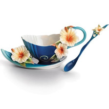 Island Hibiscus Cup, Saucer Spoon | FZ01779 | Franz Porcelain Collection -2