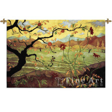 Apple Tree with Red Fruit Tapestry Wall Hanging | Pure Country | PC3089wh -2