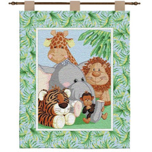Stuffed Safari Tapestry Wall Tapestry | Pure Country | PC3283-WH