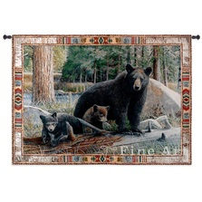 Black Bear New Discoveries Tapestry Wall Hanging | Pure Country | pc3759wh