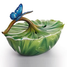 Rain Forest Little Dwellers Jewelry Box | Franz Porcelain Jewelry -2