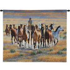Bringing 'Em In Wild Horse Tapestry Wall Hanging | Pure Country | pc5575wh