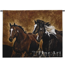 Ready to Run Horse Tapestry Wall Hanging | Pure Country | FTT6075wh