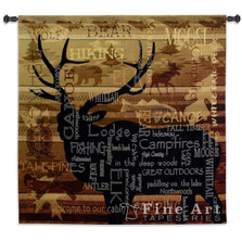 Natures Calling Elk Tapestry Wall Hanging | Pure Country | pc6121wh