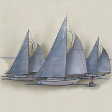Three Sailboats Wall Sculpture | TI Design | TICA780