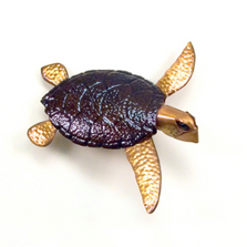 Copper Sea Turtle Wall Sculpture | TI Design | TICO114