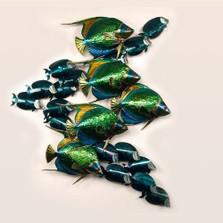 Angelfish and Tang Metal Wall Sculpture | TI Design | TICO131