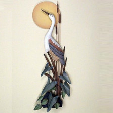 Heron with Moon Wall Sculpture | TI Design | TICW102
