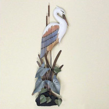 Standing Heron Wall Sculpture | TI Design | CW103
