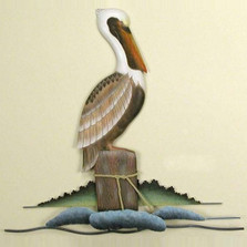 Lone Pelican Wall Sculpture | TI Design | tiCW104